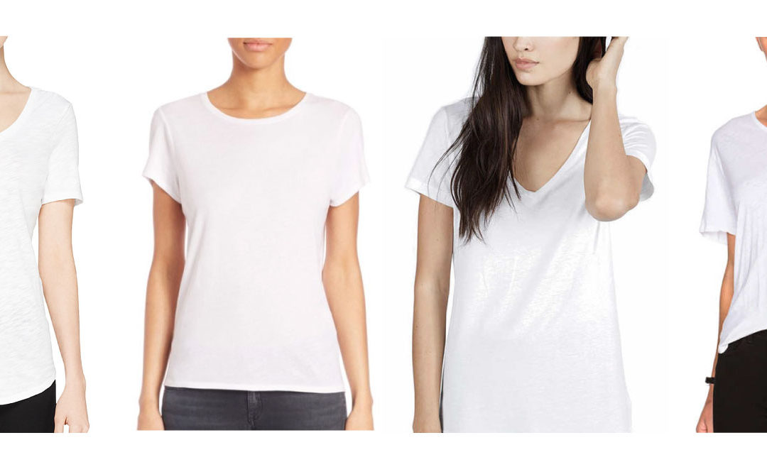 Top 4 White Tee's for Women and Men